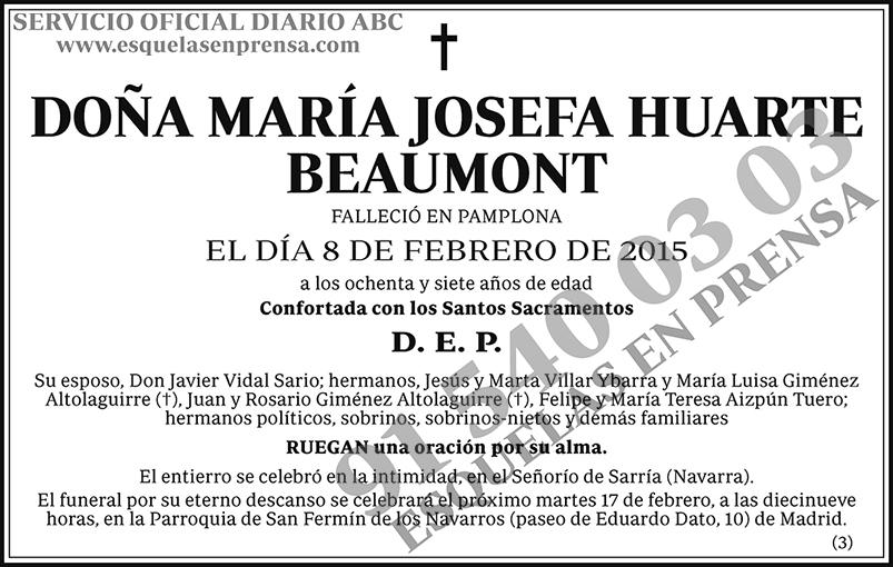 María Josefa Huarte Beaumont